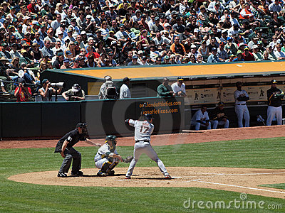 Giants Aubrey Huff stands in for a pitch Editorial Image