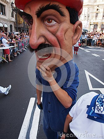 Giants and big heads in Bilbao Editorial Stock Image