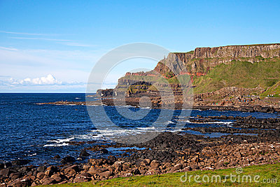 Giants of causeway in Ireland