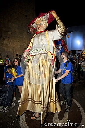 Giants folkloric fiesta Editorial Image