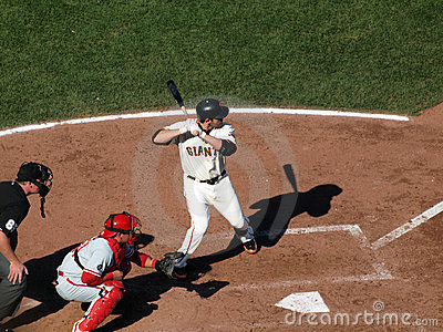 Giants Freddy Sanchez stands in the batters box Editorial Photography