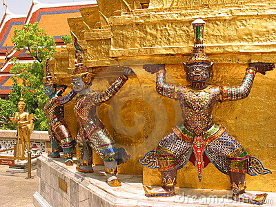 Giants, Wat Phra Kaew, Bangkok, Thailand