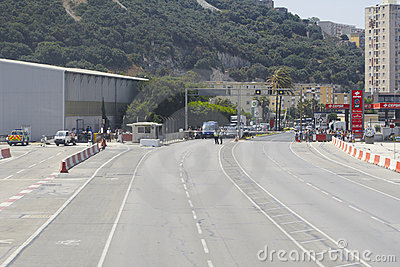 Gibraltar Airport Editorial Stock Photo