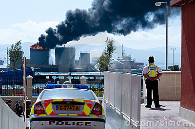 Gibraltar Fuel Tank Explosion Editorial Photography