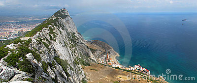 Gibraltar Upper Rock Panoramic