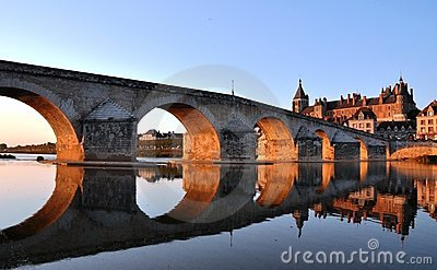Gien bridge over Loire river