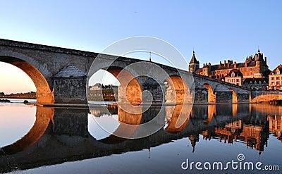 Gien bridge over Loire river