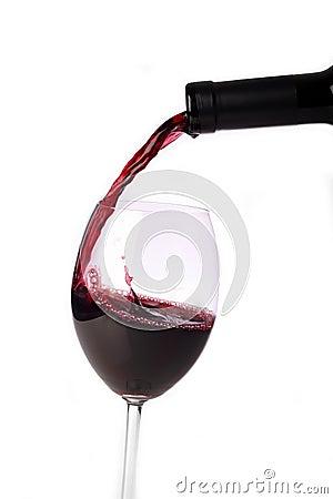Gietende rood-wijn
