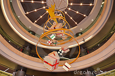 Gift bag decoration of department store