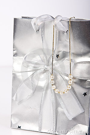 Gift Bag With Pearl Jewellery