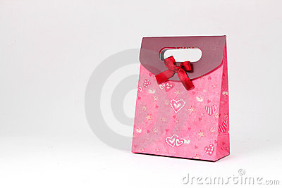 Gift bag with red bow