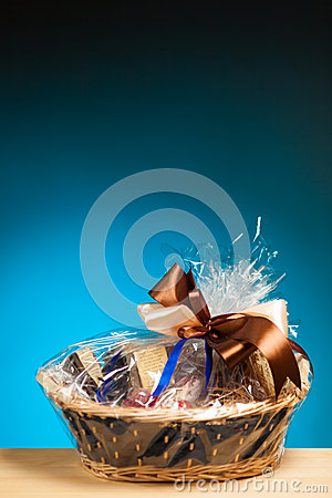 Gift in a basket