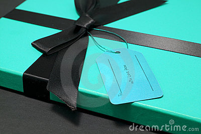 Gift in a blue box