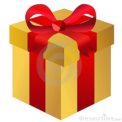 Gift Box Isolated Present