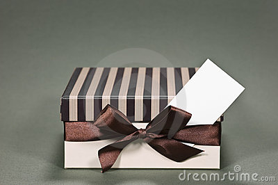 Gift box with a business card