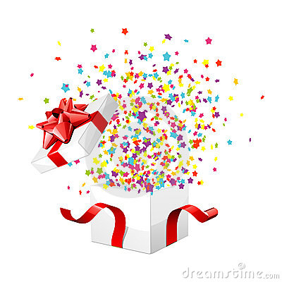Free Gift Box Exploding Royalty Free Stock Photography - 17464367
