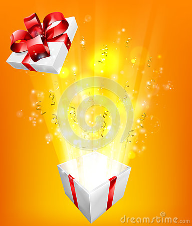 Free Gift Box Explosion Concept Royalty Free Stock Photos - 58932438