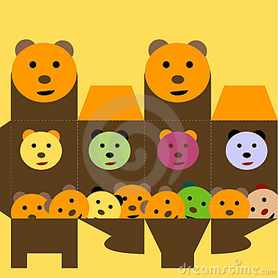 Gift box with funny bear