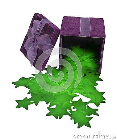 Gift Box of Glowing Stars