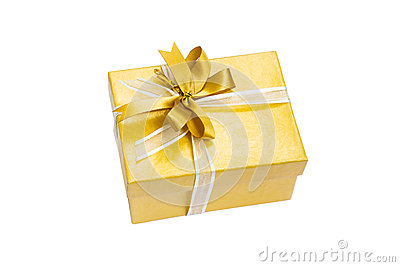 Gift Box Gold Color