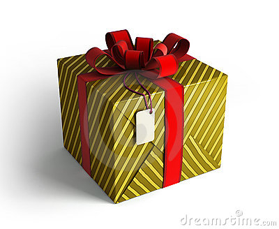 Gift box in gold wrapping