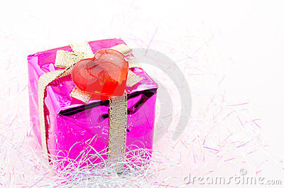 Gift box and heart