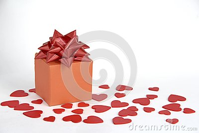 Gift box heart decoration