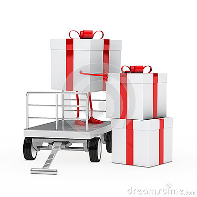 Gift box onload trolley