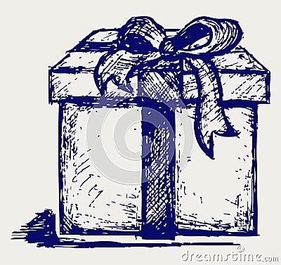 Gift box over