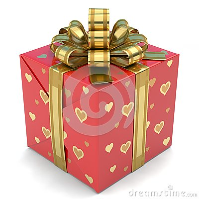 Free Gift Box Red Royalty Free Stock Images - 47921169