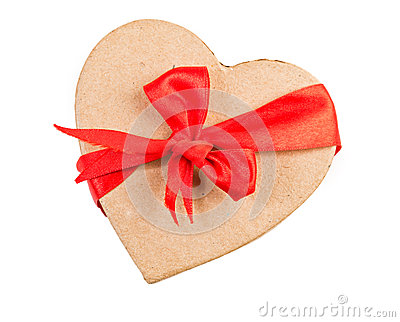 Gift box and red ribbon