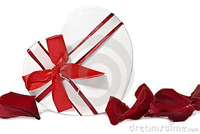 Gift box in shape heart