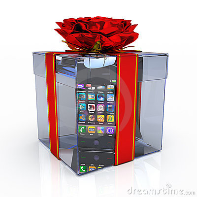 Gift box with smart-phone