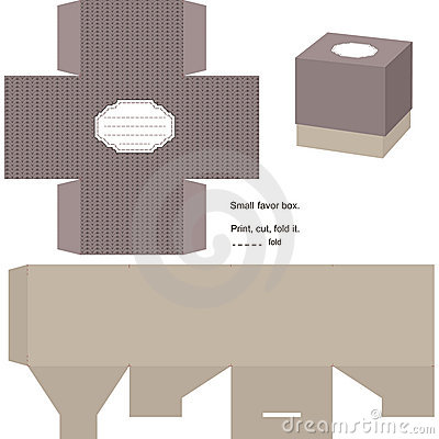 Free Gift Box Template Stock Image - 23281871