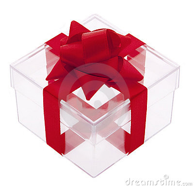 Gift box transparent