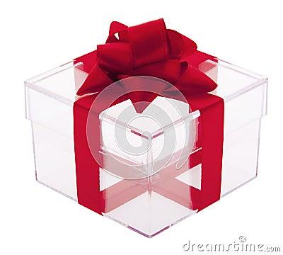 Gift box transparent