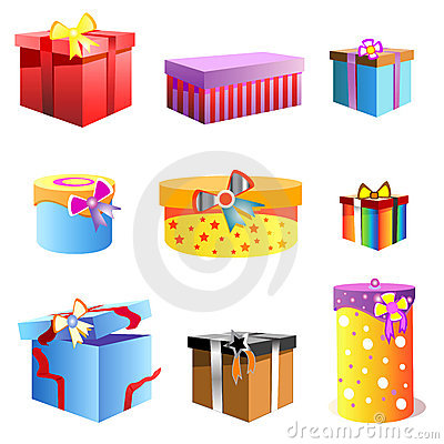 Free Gift Box Vector Stock Image - 3684081