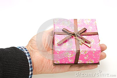 Gift box was placed in my palm