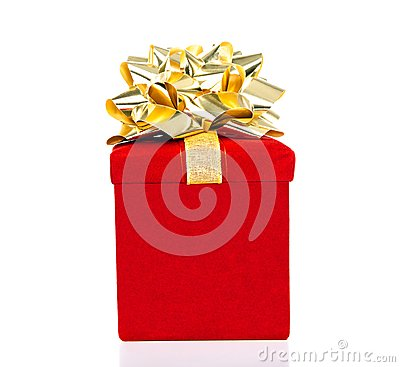 Free Gift Box With Golden Bow For All Occasions Stock Images - 35603394