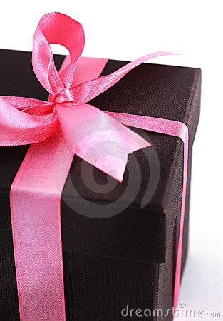 Free Gift Box With Pink Ribbons Stock Images - 3726184