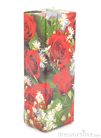 Free Gift Box With Roses Stock Photos - 15072453