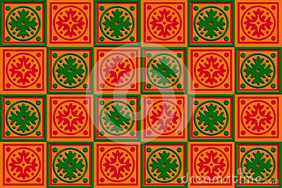 Gift box wrap Red, orange & Green