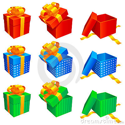 Free Gift Boxes. Royalty Free Stock Images - 11681829