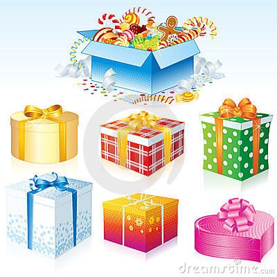 Free Gift Boxes Royalty Free Stock Images - 17016469