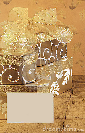 Gift Boxes and Blank Card