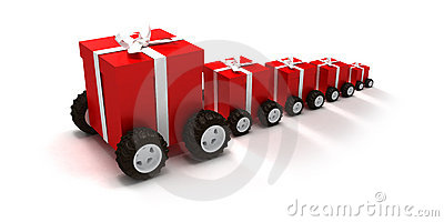 Gift boxes convoy