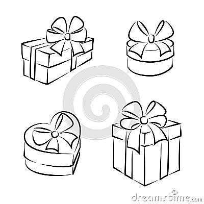 gift boxes stock vector image 44511629. Black Bedroom Furniture Sets. Home Design Ideas