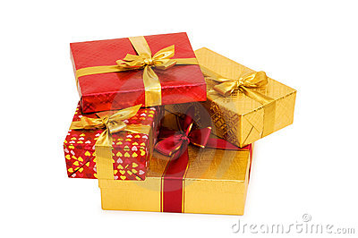 Gift boxes isolated