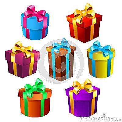 Free Gift Boxes Set Stock Image - 107196491