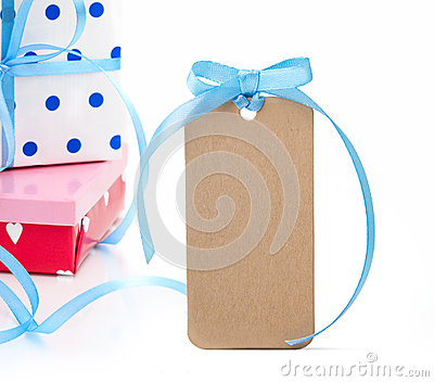 Gift boxes and tag